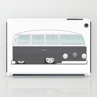 vw bus iPad Cases featuring Low VW Bus by leducland