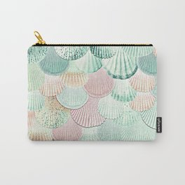 MERMAID SHELLS - MINT & ROSEGOLD Carry-All Pouch