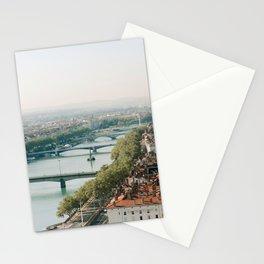 Sunrise over Lyon Stationery Cards