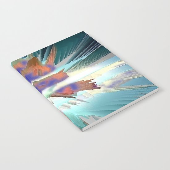 Pow Teal Splash Notebook