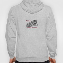 Holiday Greeting Pen and Ink Zentangle Hoody