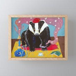 An Evening In (Mr Badger Series) Framed Mini Art Print