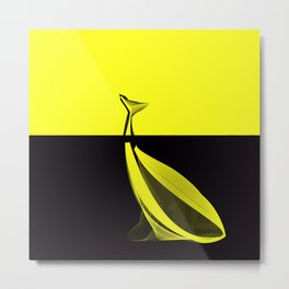 Banana whale Metal Print