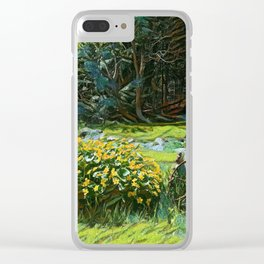 Wagon Wheel landscape Clear iPhone Case