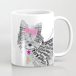 Typographic Yorkshire Terrier - Pink   #YorkshireTerrier #buyart Coffee Mug
