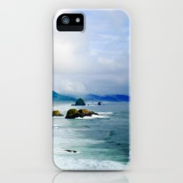 View from Ecola State Park, Cannon Beach, Oregon iPhone Case