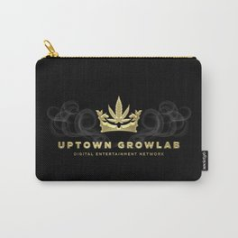Uptown Growlab Gold Cannabis Crown and Script Wordmark Carry-All Pouch