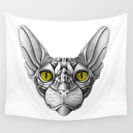 Ornate Sphynx Cat Wall Tapestry