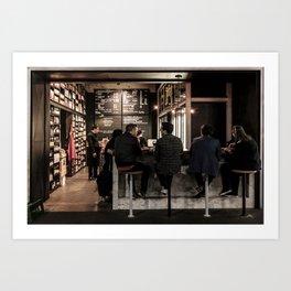 Market Cafe Art Print