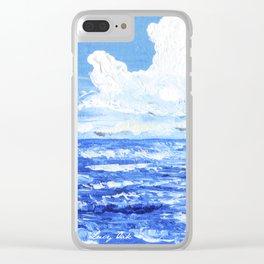 Infinite blue Clear iPhone Case
