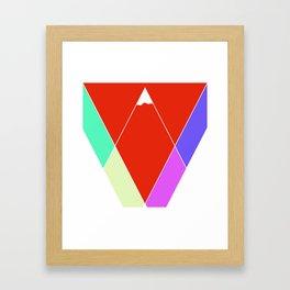 Mountain Geometry Framed Art Print