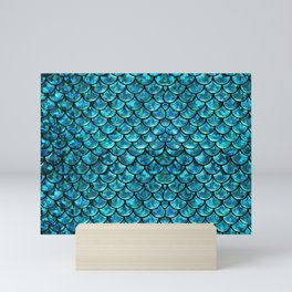 Mermaid Scales Design Mini Art Print