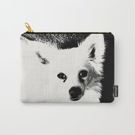 White Dog Carry-All Pouch