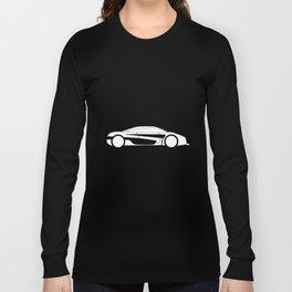 Modern Fast Car Outline Long Sleeve T-shirt