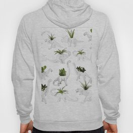 Dino and Cacti on White Hoody