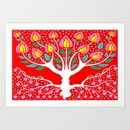Love Grows Forever - Tomato Red Art Print