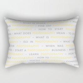 Photography Yellow Keywords Rectangular Pillow
