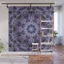 Inverse Fern Reflection Dark Wall Mural