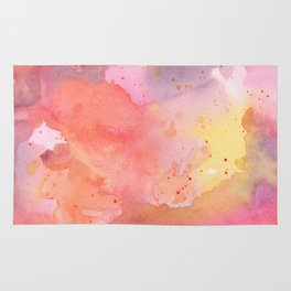 Sunset Color Palette Abstract Watercolor Painting Rug