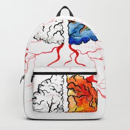Rainbow human brain Backpack