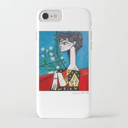 Pablo Picasso Jacqueline With Flowers 1956, T Shirt, Artwork iPhone Case