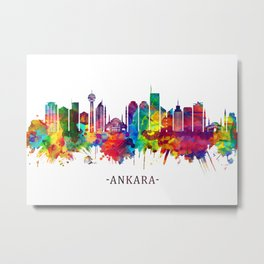 Ankara Turkey Skyline Metal Print