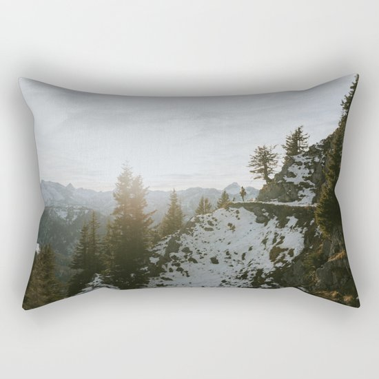 Taking in the view - Landscape Photography Rectangular Pillow