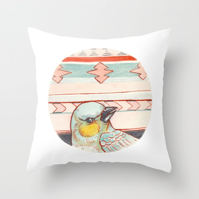 Pajaro Throw Pillow