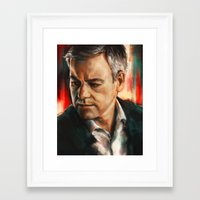 greg guillemin Framed Art Prints featuring Greg Lestrade by Alice X. Zhang