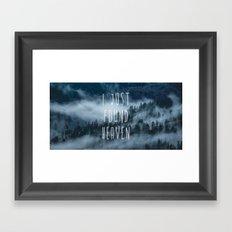 Mountain Fog Travel Trees wanderlust forest- GO TO THE WOODS - LOVE 4 Framed Art Print