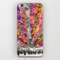 paris iPhone & iPod Skins featuring Vintage Paris by Bianca Green