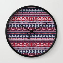 Classic Christmas Wall Clock