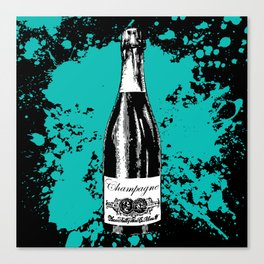 Champagne Explosion Canvas Print