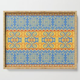 Traditional pattern of Eastern Central Asia Serving Tray