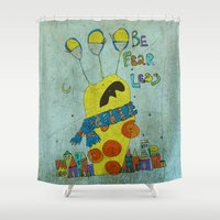 monster inc Shower Curtains featuring Monster by Catru