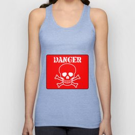 Red Danger Sign Unisex Tank Top