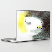 polar bear Laptop & iPad Skins featuring Polar Bear by Linette No