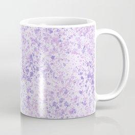 Splatter Design in Pastel Purple Coffee Mug