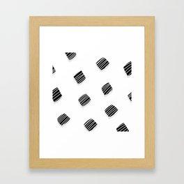 BLACK squares / minimal Framed Art Print