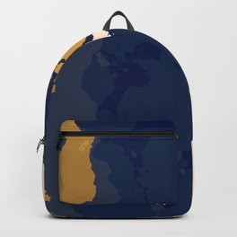 gold n blue Backpack
