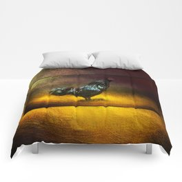 Black Ameracauna ~ Coltyn's Rooster ~ Ginkelmier Inspired Comforters