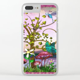Whimsey Gardens Fantasy Art Clear iPhone Case