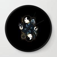 221b Wall Clocks featuring The Detective of 221B by WinterArtwork