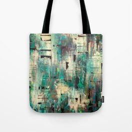 """SINGING IN THE RAIN"" Original Painting by Cyd Rust Tote Bag"