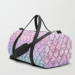 Mermaid Scales on Unicorn Girls Glitter #1 #shiny #pastel #decor #art #society6 Duffle Bag