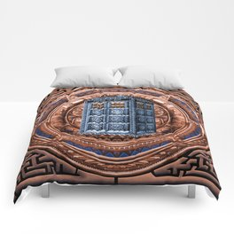 Aztec Tardis doctor who full color iPhone 4 4s 5 5c 6, pillow case, mugs and tshirt Comforters