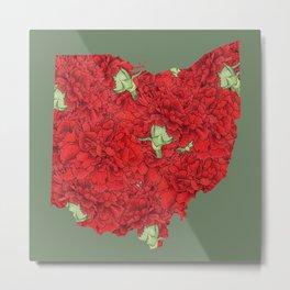 Ohio in Flowers Metal Print