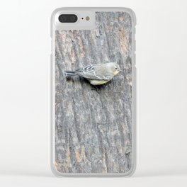 TEXTURES -- Warbler on Palm Bark Clear iPhone Case