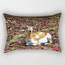 Gazelle Enjoying Autumn Rectangular Pillow