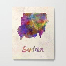 Sudan in watercolor Metal Print